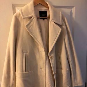 Pretty cream wool lined coat, size 14